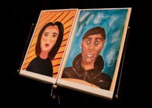 Two pieces of work from our Woodrow Arts Competition earlier this year.