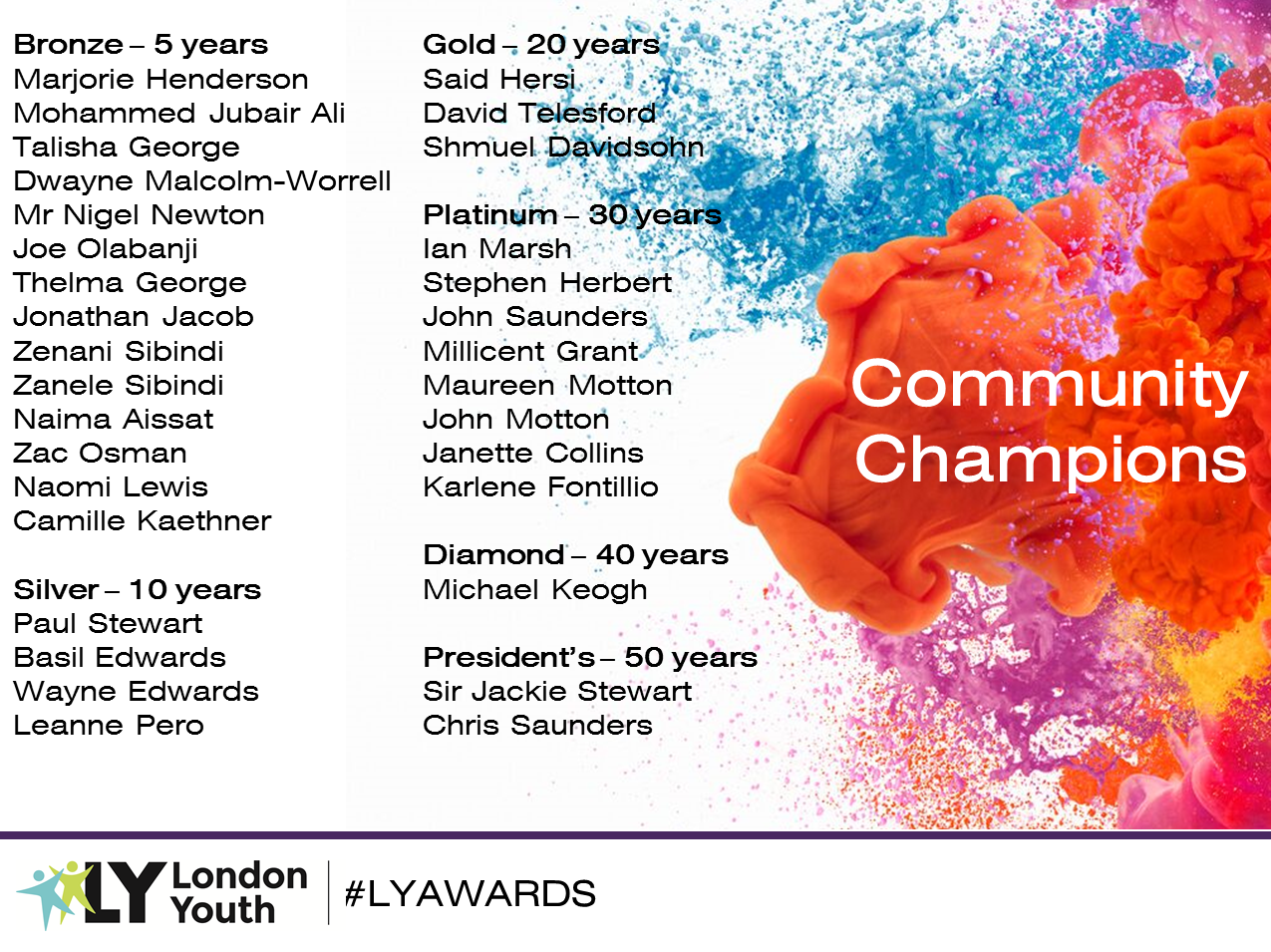 Community Champions - London Youth Awards 2017