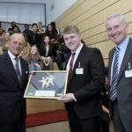 Cedars Youth and Community Centre receive their Gold Quality Mark plaque during a visit from Prince Philip