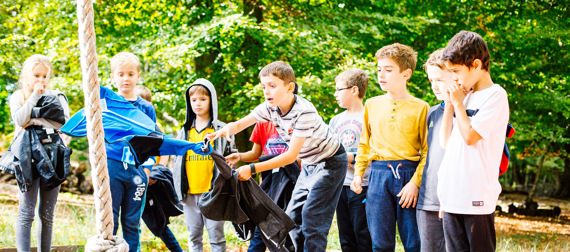 young people doing an outdoor activity