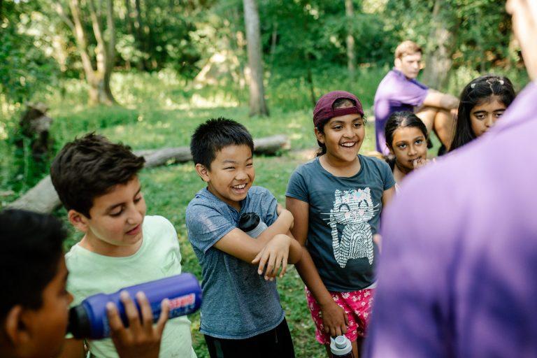 children at outdoor centre