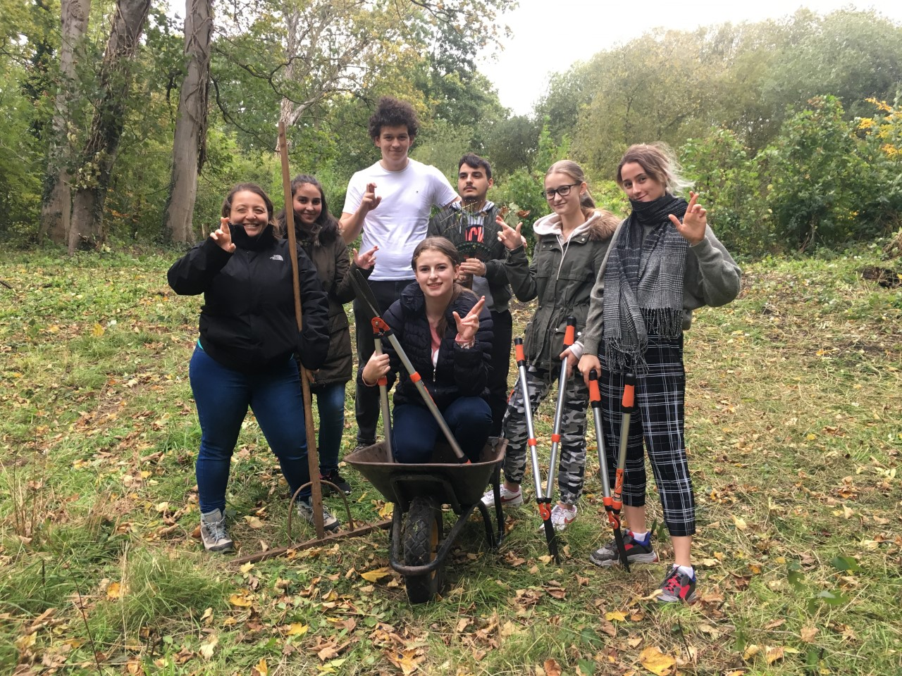 Young people on Keeping it Wild day