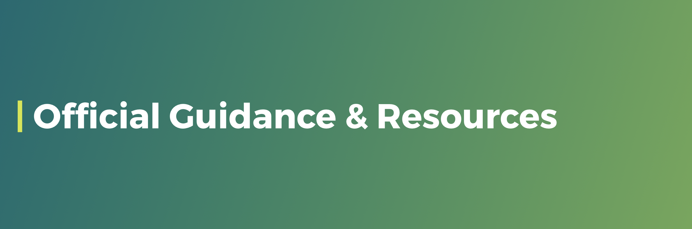 official guidance and resources
